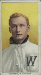 1909-11 The American Tobacco Company T206 White Border #236 Walter Johnson (Portrait) Front