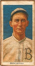 1909-11 American Tobacco Company T206 White Border #NNO Dave Brain Front