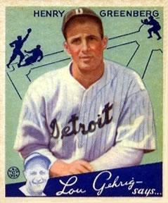 1934 Goudey #62 Hank Greenberg Front