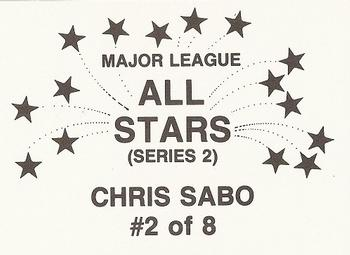 1989 Major League All-Stars Series 2 (unlicensed) #2 Chris Sabo Back