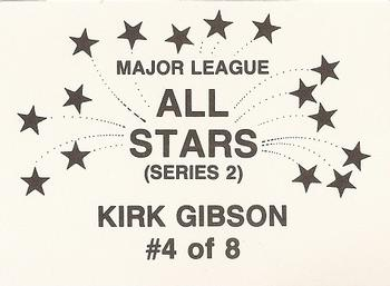 1989 Broder Major League All-Stars Series 2 (unlicensed) #4 Kirk Gibson Back
