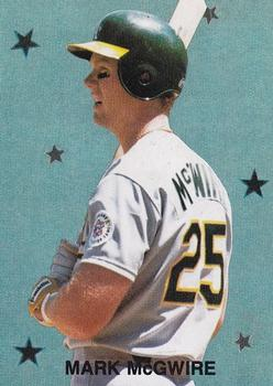 1989 Broder Major League All-Stars Series 2 (unlicensed) #5 Mark McGwire Front