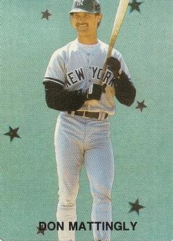 1989 Broder Major League All-Stars Series 2 (unlicensed) #7 Don Mattingly Front