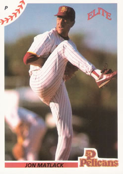 1990 Elite Senior League #11 Jon Matlack Front