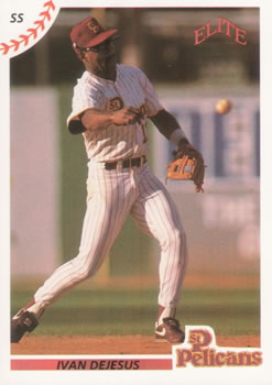 1990 Elite Senior League #4 Ivan DeJesus Front