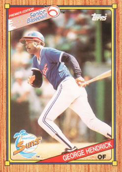 1989 Topps Senior League #12 George Hendrick Front