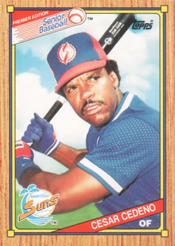 1989 Topps Senior League #69 Cesar Cedeno Front