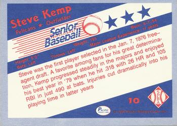 1990 Pacific Senior League #10 Steve Kemp Back