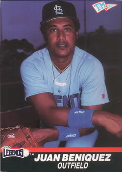 1989-90 T&M Senior League #6 Juan Beniquez Front