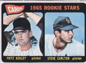 1985 Baseball Cards Magazine Repli-Cards #NNO Fritz Ackley / Steve Carlton Front