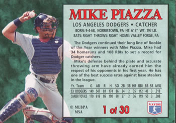Mike Piazza Gallery The Trading Card Database