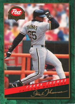 1994 Post Cereal #21 Frank Thomas Front