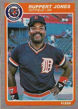 1985 Fleer #13 Ruppert Jones Front