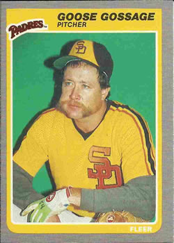 1985 Fleer #33 Rich Gossage Front