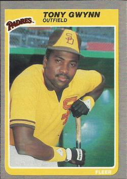 1985 Fleer #34 Tony Gwynn Front