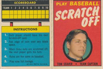 1971 Topps - Scratch-Offs #NNO Tom Seaver  Front