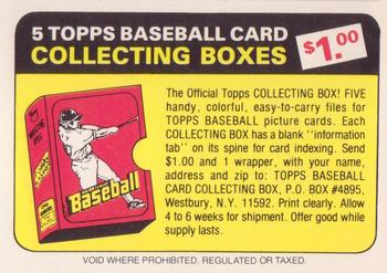 1982 Topps - Team Checklists #NNO Header/Ad Card Front