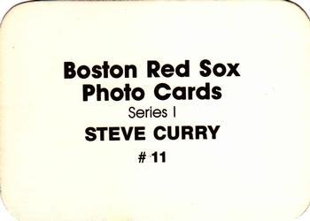 1986 Boston Red Sox Photo Cards Series I & II #11 Steve Curry Back