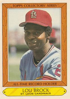 1985 Topps Woolworth All-Time Record Holders #5 Lou Brock Front