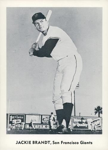 1959 Jay Publishing San Francisco Giants #NNO Jackie Brandt Front