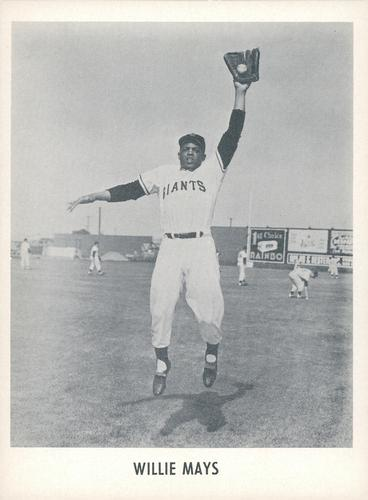 1958 Jay Publishing San Francisco Giants #NNO Willie Mays Front
