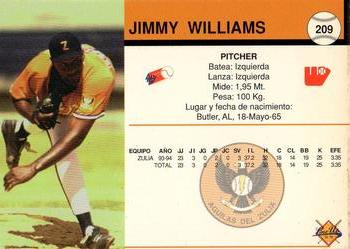 1994-95 Line Up Venezuelan Winter League #209 Jimmy Williams Back