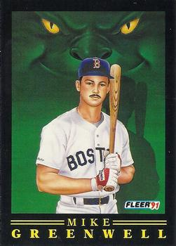 1991 Fleer - Pro-Visions #8 Mike Greenwell Front