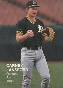 Carney Lansford Gallery The Trading Card Database