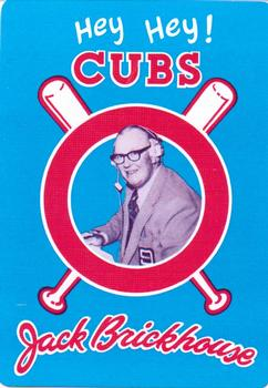 1985 Jack Brickhouse Chicago Cubs Playing Cards #9S Jody Davis Back