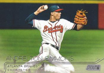 2015 Stadium Club #84 Andrelton Simmons Front