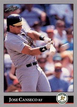 1992 Donruss - Leaf Previews #23 Jose Canseco Front