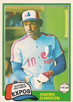 1981 O-Pee-Chee - Gray Back #125 Andre Dawson Front