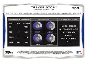2014 Choice California//Carolina League All-Stars #45 Trevor Story Modesto Nuts
