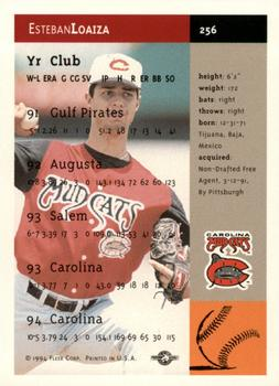 1994-95 Fleer Excel #256 Esteban Loaiza Back