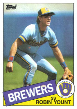 1985 Topps #340 Robin Yount Front