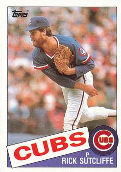 1985 Topps #72 Rick Sutcliffe Front