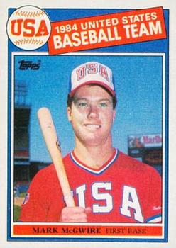 1985 Topps #401 Mark McGwire Front