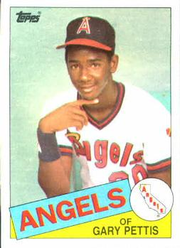 1985 Topps #497 Gary Pettis Front