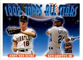 322e2a4582 1993 Topps - Inaugural Marlins #405 Andy Van Slyke / Ken Griffey Jr. AS