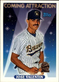 1993 Topps   Inaugural Marlins #804 Jose Valentin