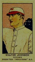 1919-21 W514 #94 Walter Johnson Front