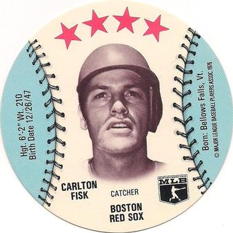 1976 Orbaker's Discs #NNO Carlton Fisk Front
