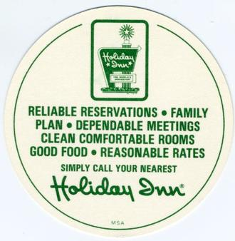 1977 Holiday Inn Discs #NNO Steve Braun Back