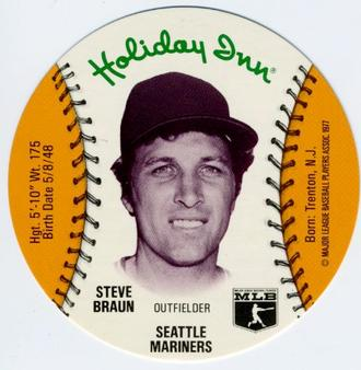 1977 Holiday Inn Discs #NNO Steve Braun Front