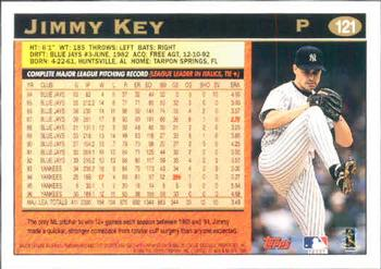 1997 Topps #121 Jimmy Key Back