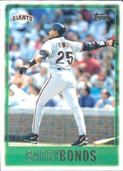 1997 Topps #1 Barry Bonds Front