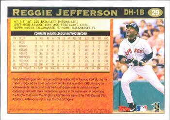 1997 Topps #29 Reggie Jefferson Back