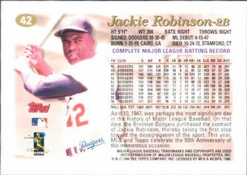 Jackie Robinson Gallery 1997 The Trading Card Database