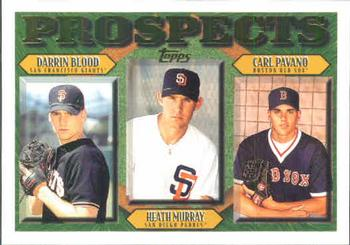 1997 Topps #493 Darrin Blood / Heath Murray / Carl Pavano Front