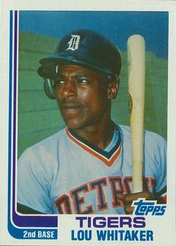 1982 Topps - Blackless #39 Lou Whitaker Front